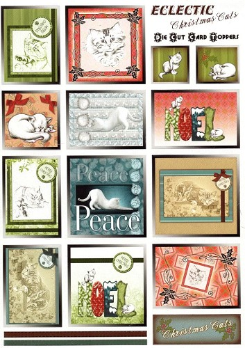 Card Toppers stansvel Eclectic Christmas Cats