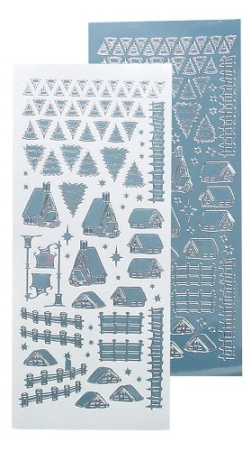 LeCrea Design  Winter scenery stickers mirror blue