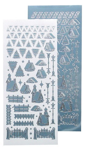 LeCrea Design  Winter scenery stickers ice blue