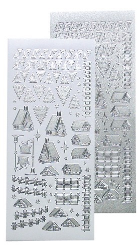 LeCrea Design Winter scenery stickers silver