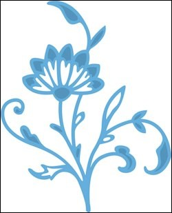 MD Creatables stencil Tiny`s flowers
