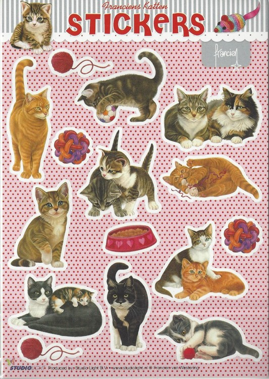 Stickers Franciens katten 2 vellen