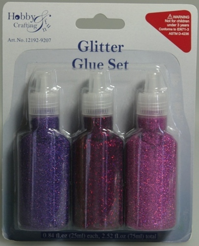Glitter Glue Set Purple