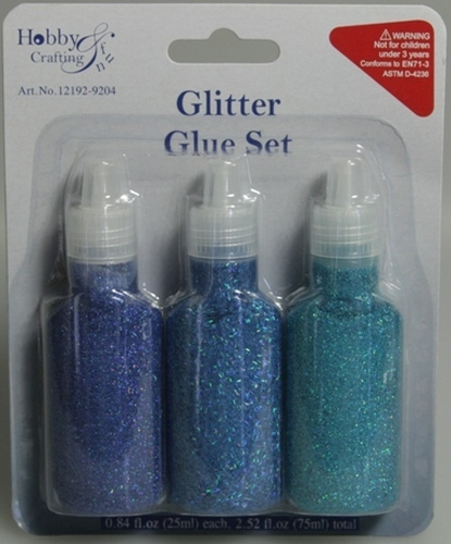 Glitter Glue Set Blue
