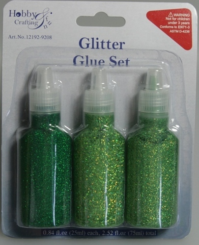 Glitter Glue Set Green
