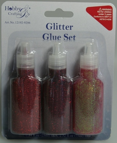 Glitter Glue Set Red