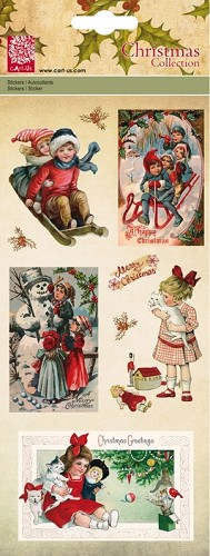 Christmas Glitterstickers Vintage Children