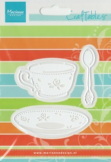 MD Craftables stencil coffee cup with spoon