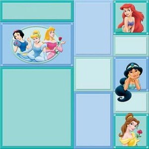 Disney Paper Princess Green 30,5x30,5cm 25 vellen