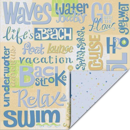 EK Success Scrapbook Paper Beach Banter 30,5x30,5cm 25 vellen