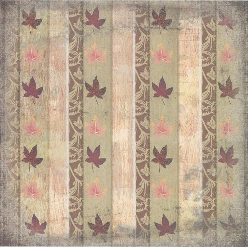 Beatrix Rose Scrapbook Paper Fall Glitter Leaves Wallpaper 30,5x30,5cm 25 vellen