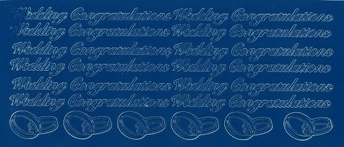 Stickervel Wedding Congratulations blauw