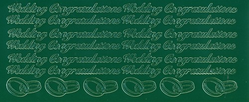 Stickervel Wedding Congratulations groen