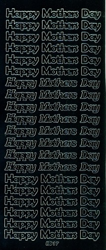 Stickervel Happy Mother Day zwart