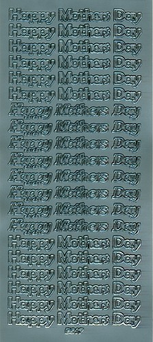 Stickervel Happy Mother Day zilver