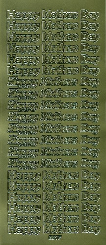Stickervel Happy Mother Day goud