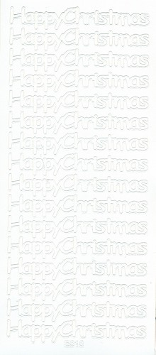 Stickervel Happy Christmas wit