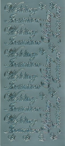 Stickervel Wedding Invitation zilver