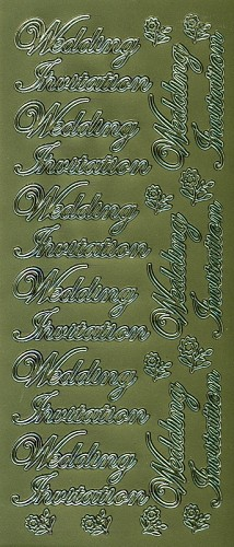 Stickervel Wedding Invitation goud