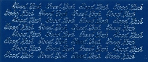 Stickervel good Luck blauw