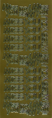 Stickervel Miss you goud