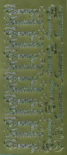 Stickervel Evening Invitation goud
