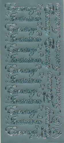 Stickervel Evening Invitation zilver
