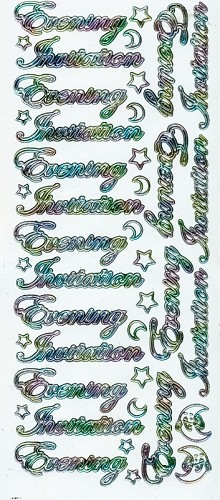 Stickervel Evening Invitation wit multi