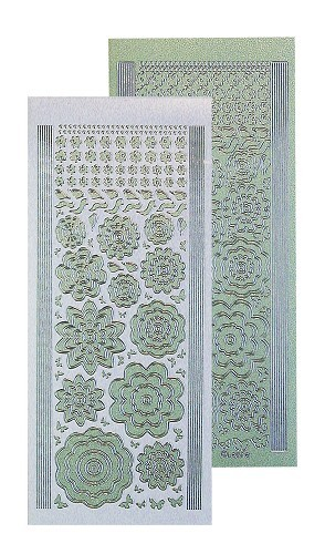 Leane Bloem stickers green- silver