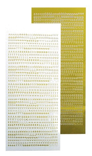 Leane Alfabet stickers mirror yellow