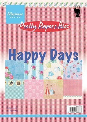 MD Pretty Papers bloc A5 Happy Days
