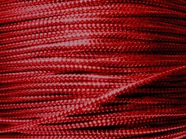 Metallic koord 1mm 25 meter Rood