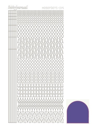Hobbydots stickervel Serie 15 Mirror Purple