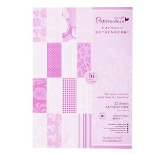 Paper pack A4 160gsm capsule (32pk) boysenberry