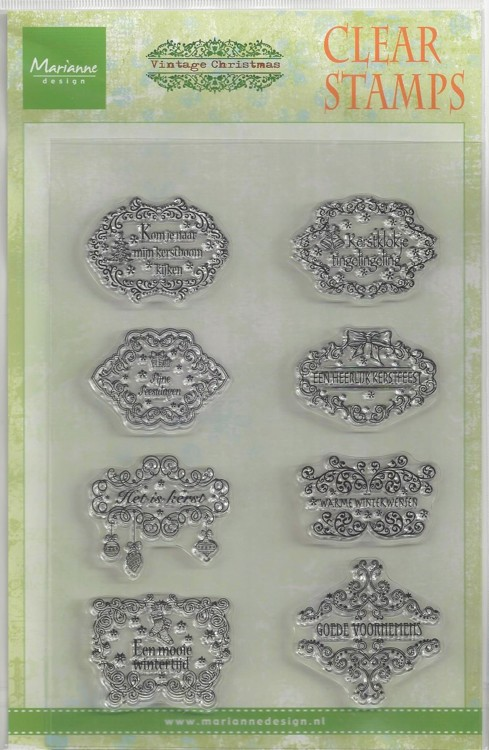 MD Clear stamp vintage kerstwensen