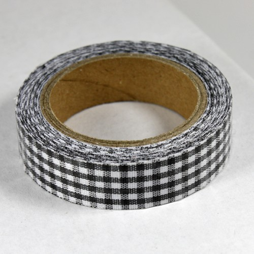 Fabric Tape Geblokt Zwart