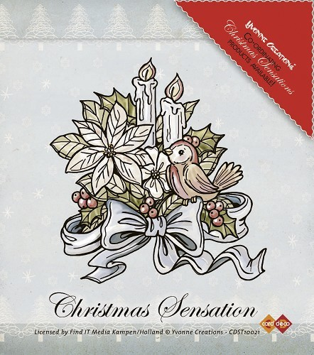 Stempel Yvonne Creations Christmas Sensation Flower