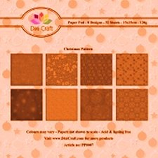Dixi Paper Pack 15x15 cm orange floral pattern