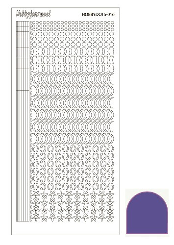Hobbydots stickervel Serie 16 Mirror Purple