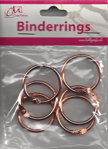 Binderrings 35 mm 6 stuks Koperkleur