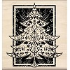 Rubber Stamp Festive Tree 11,5x11,5cm.