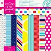 Docrafts Paperpack 30,5x30,5cm Spots & Stripes Brights - scrap/PMA160204