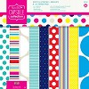 Paper Pack 20,3x20,3cm Spots & Stripes Brights - papier/PMA160206