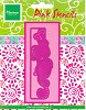 MD Pink Doodle Stencil Roses - mal/PK9009