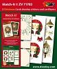 Set Match-It 3D stickers en oplegkaarten kerst - kaart/ZV71702