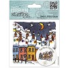 Docrafts Rubber stamp Urban Christmas Lights