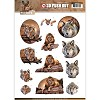 3D Pushout Amy Design Wild Animals