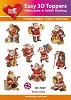Easy 3D Toppers Santa Claus