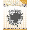 Die - Precious Marieke - Early Spring - Spring Flowers Square Label