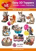 Easy 3D Toppers Cute Cats